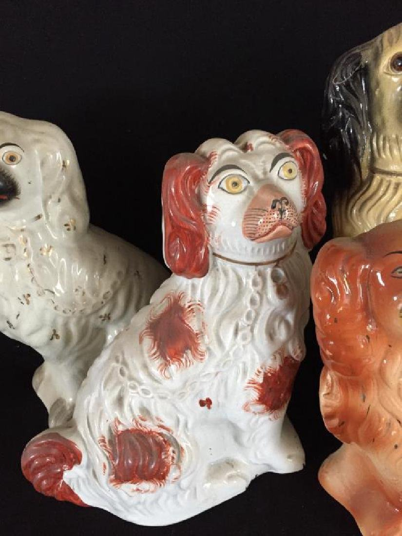 FOUR LARGE STAFFORDSHIRE DOGS - 5