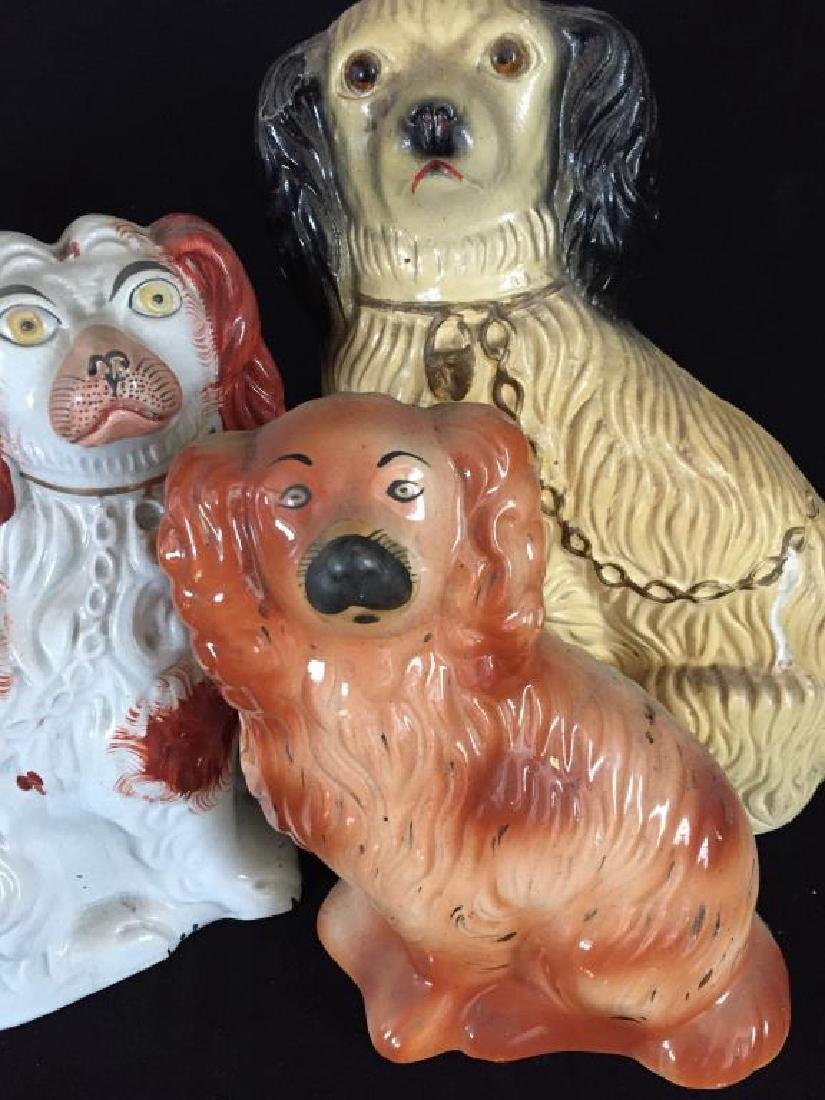 FOUR LARGE STAFFORDSHIRE DOGS - 6