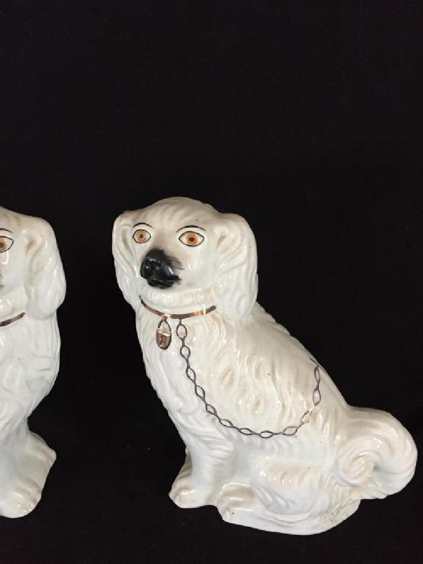 PAIR OF STAFFORDSHIRE DOGS - 5