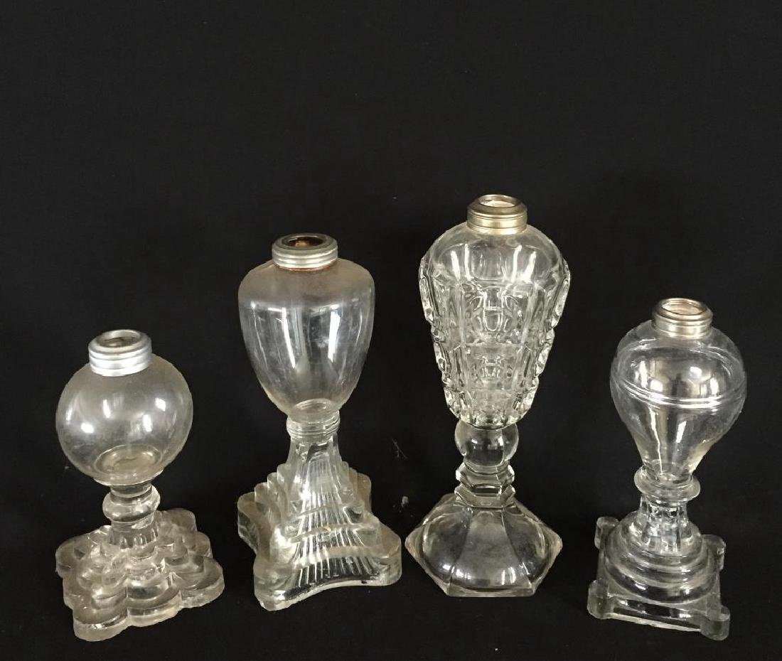 FOUR WHALE OIL LAMPS