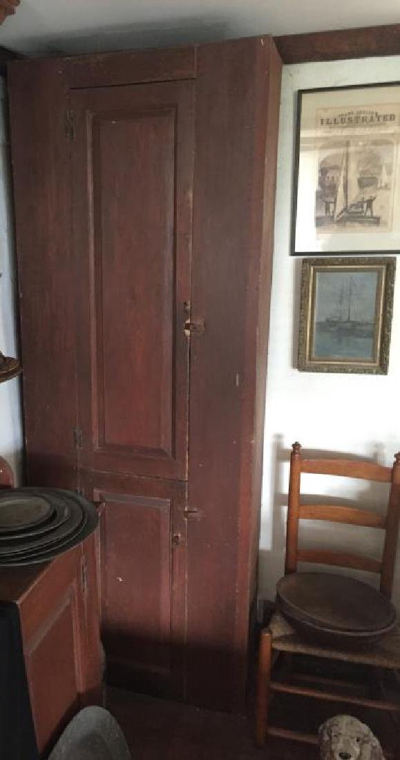 EARLY CUPBOARD IN RED PAINT