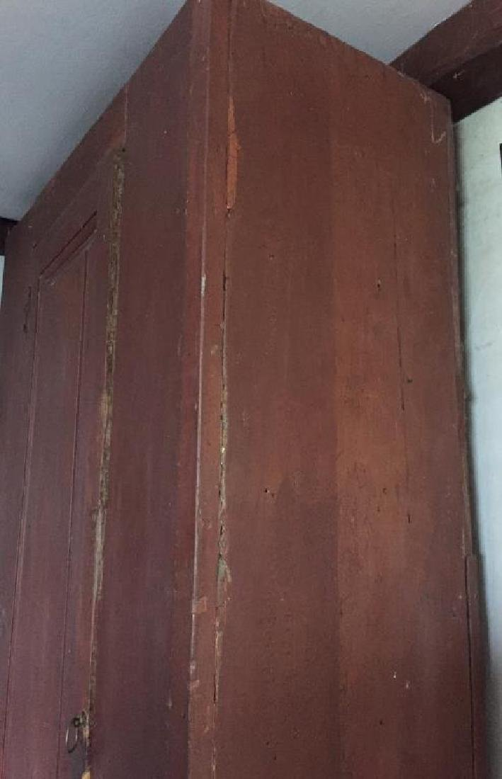EARLY CUPBOARD IN RED PAINT - 3