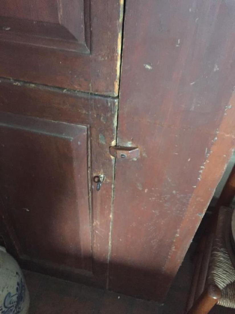 EARLY CUPBOARD IN RED PAINT - 7
