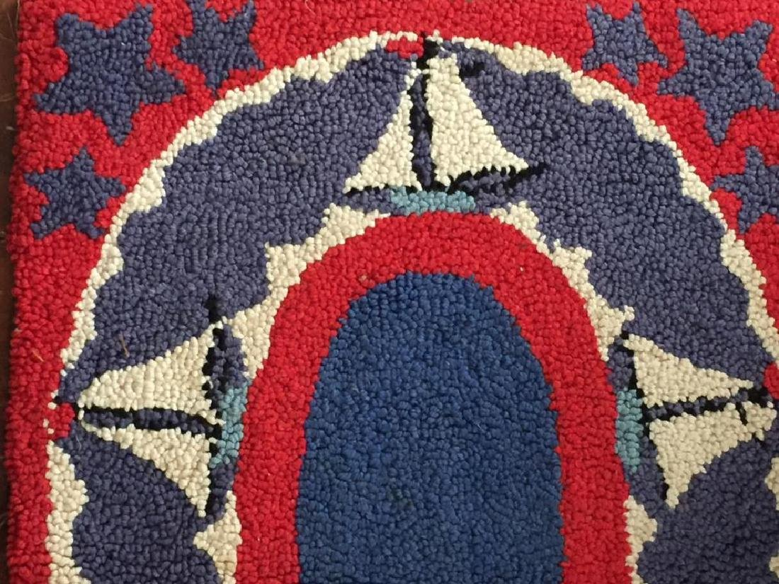 HOOKED RUG with SAILBOATS - 2