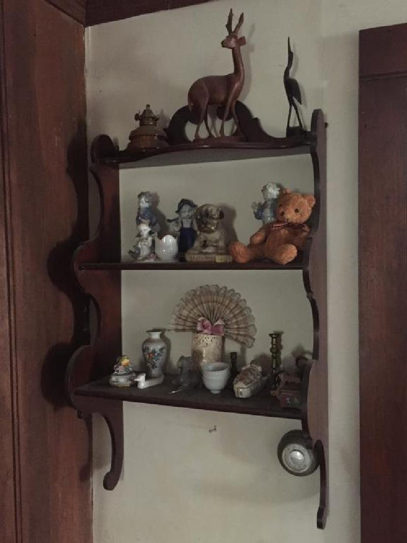THREE TIER SHELF WITH CONTENTS