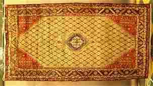 169 Persian oriental area rug Hamadan circa 1970s