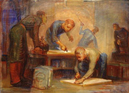 348: John W. Hatch (American 20th century, NH artist)