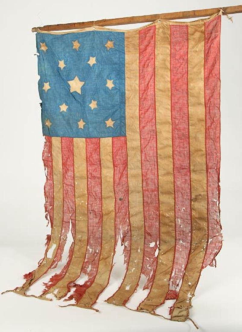VERY EARLY THIRTEEN STAR AMERICAN FLAG - 3