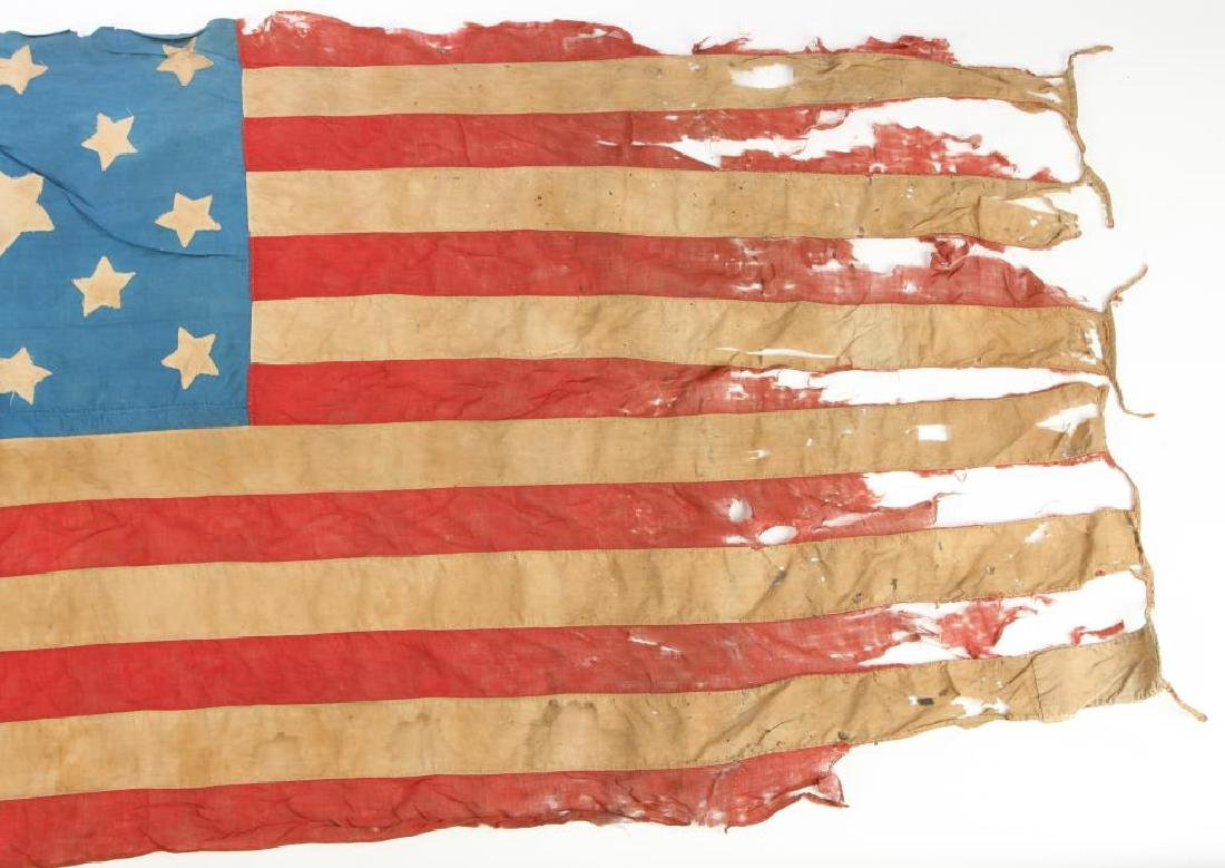 VERY EARLY THIRTEEN STAR AMERICAN FLAG - 5