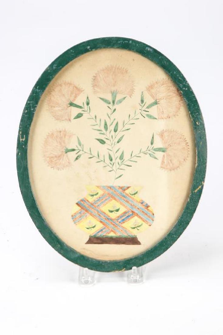 (4) SCHOOLGIRL ACADEMY PAINTINGS OF FLOWERS 1829 - 2