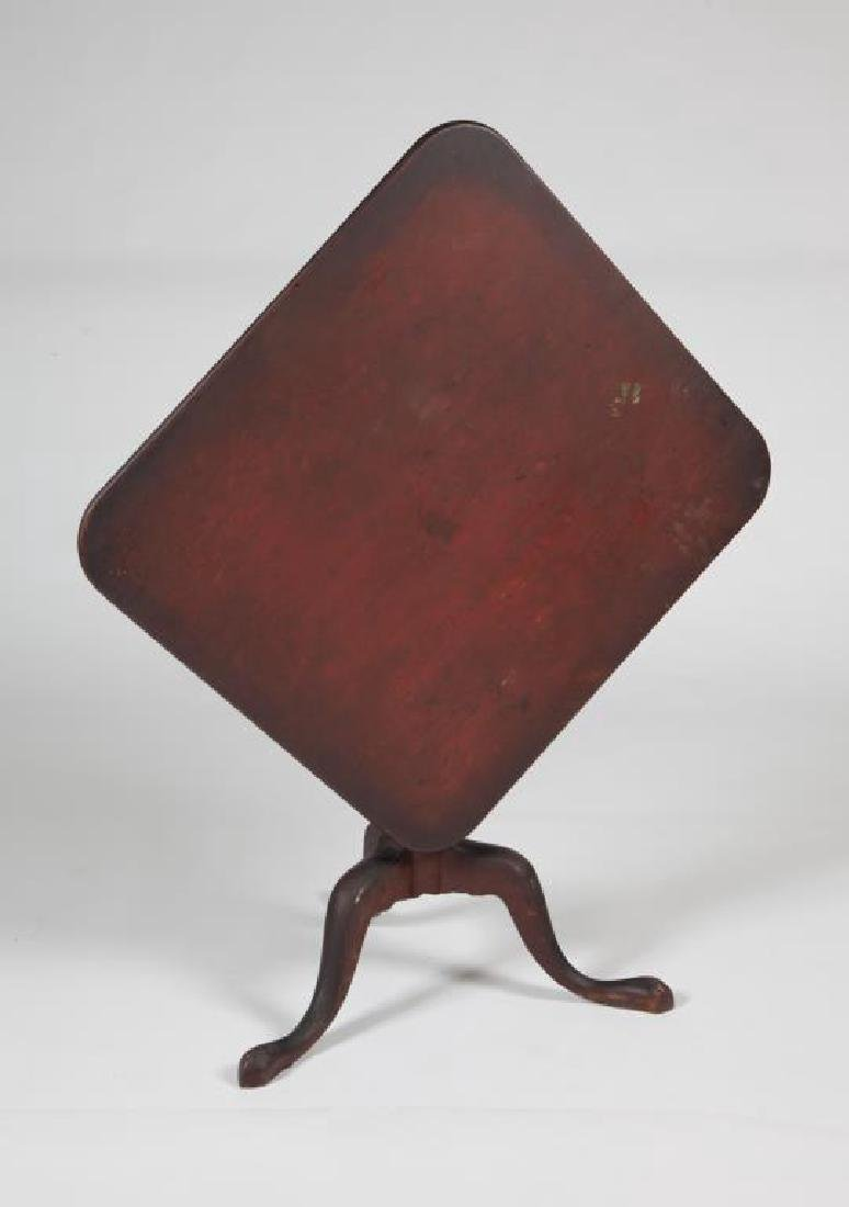 (18th c) NORTH SHORE TIP TOP MAHOGANY TEA TABLE