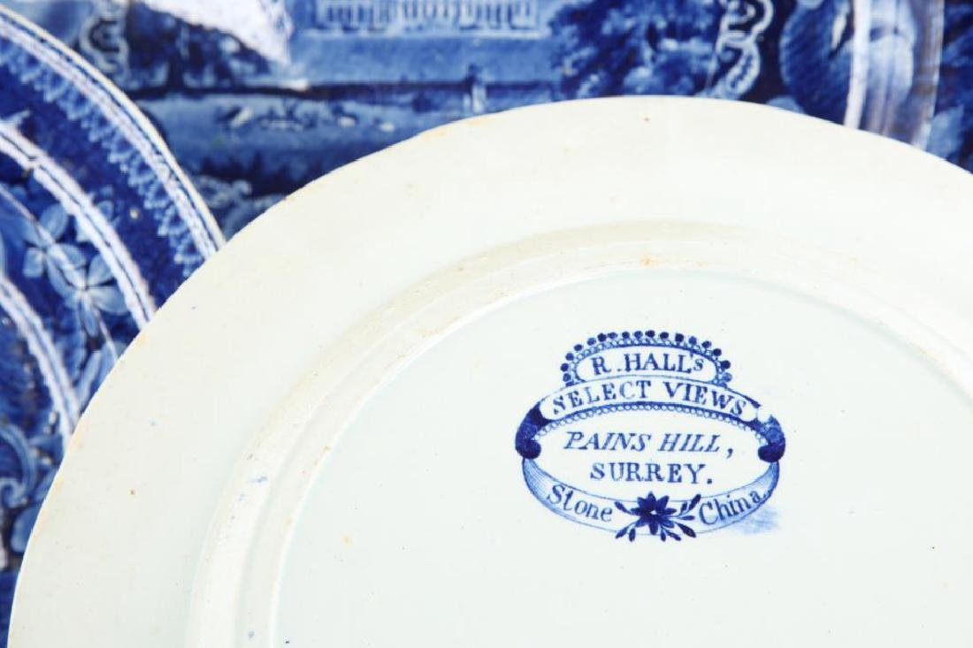 (6) PIECES OF BLUE & WHITE TRANSFERWARE - 8