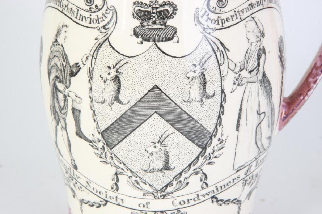 SUNDERLAND LUSTER JUG with CORDWAINERS ARMS - 4