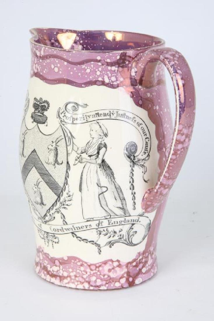 SUNDERLAND LUSTER JUG with CORDWAINERS ARMS - 7