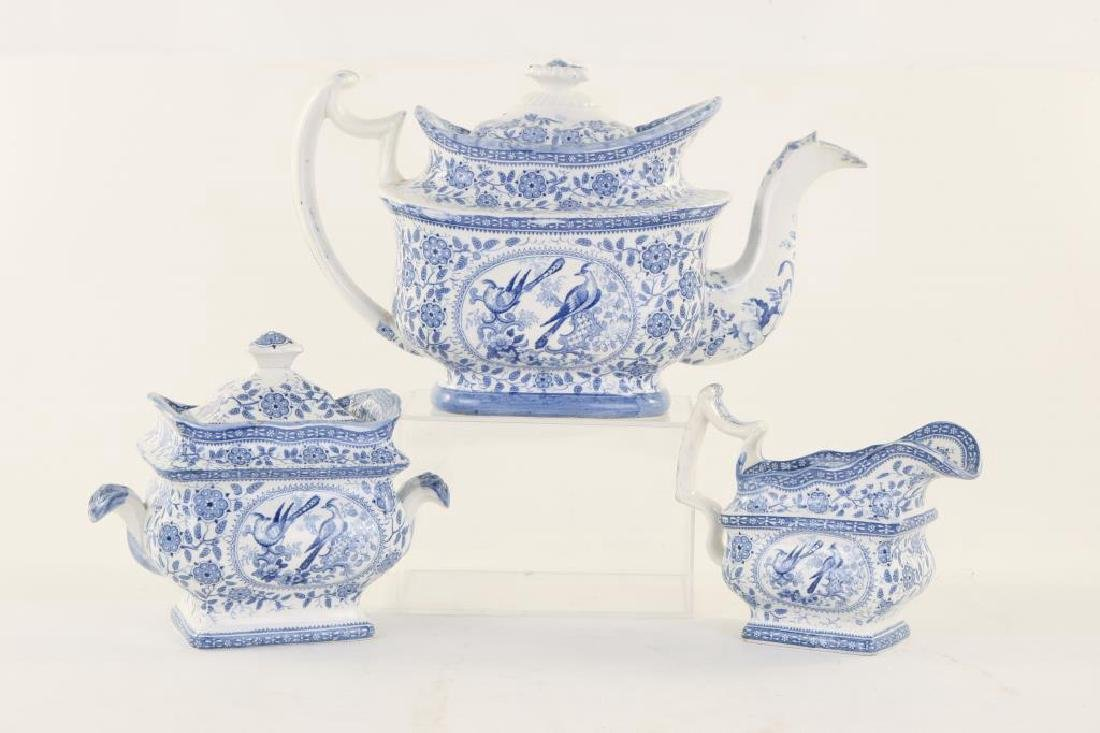 STAFFORDSHIRE TRANSFERWARE TEA SET 1822-1834