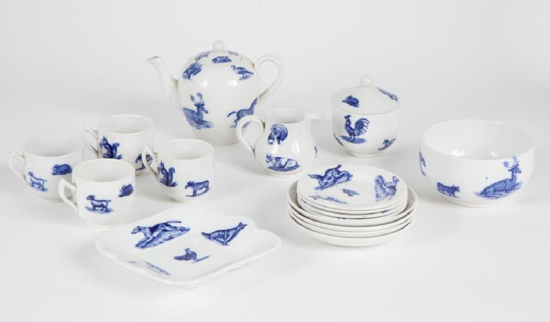 COPELAND SPODE CHILD'S BLUE & WHITE TEA SET