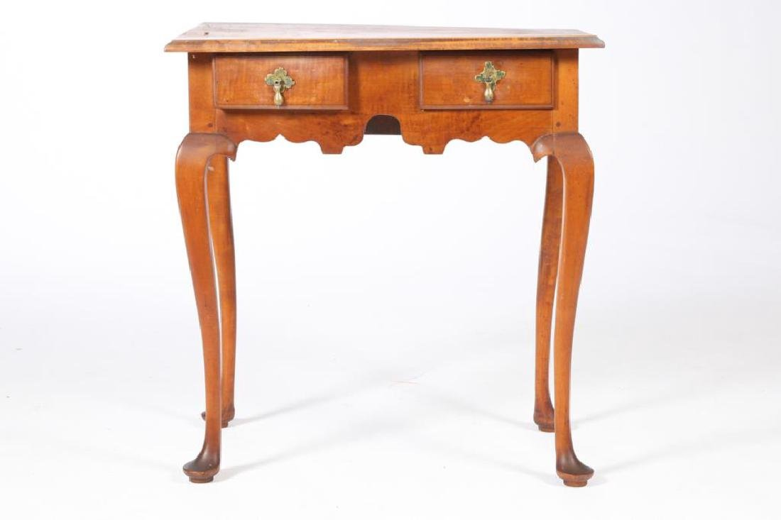 QUEEN ANNE MAPLE TWO DRAWER LOW BOY