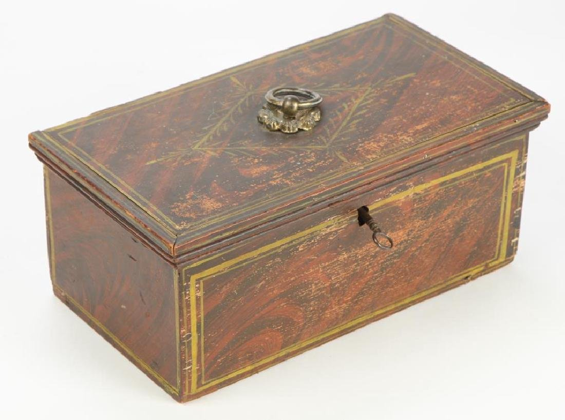 STATE OF MAINE GRAIN PAINTED DOCUMENT BOX
