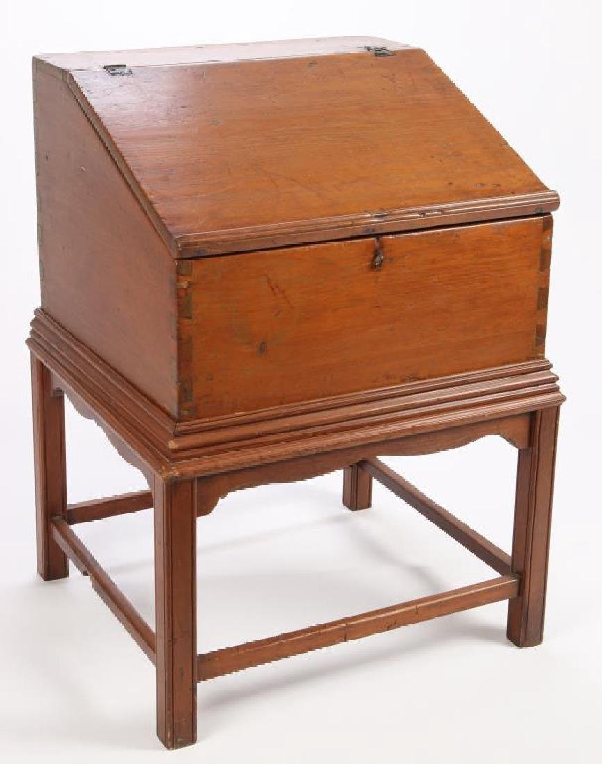(18th c) CHIPPENDALE DESK ON FRAME
