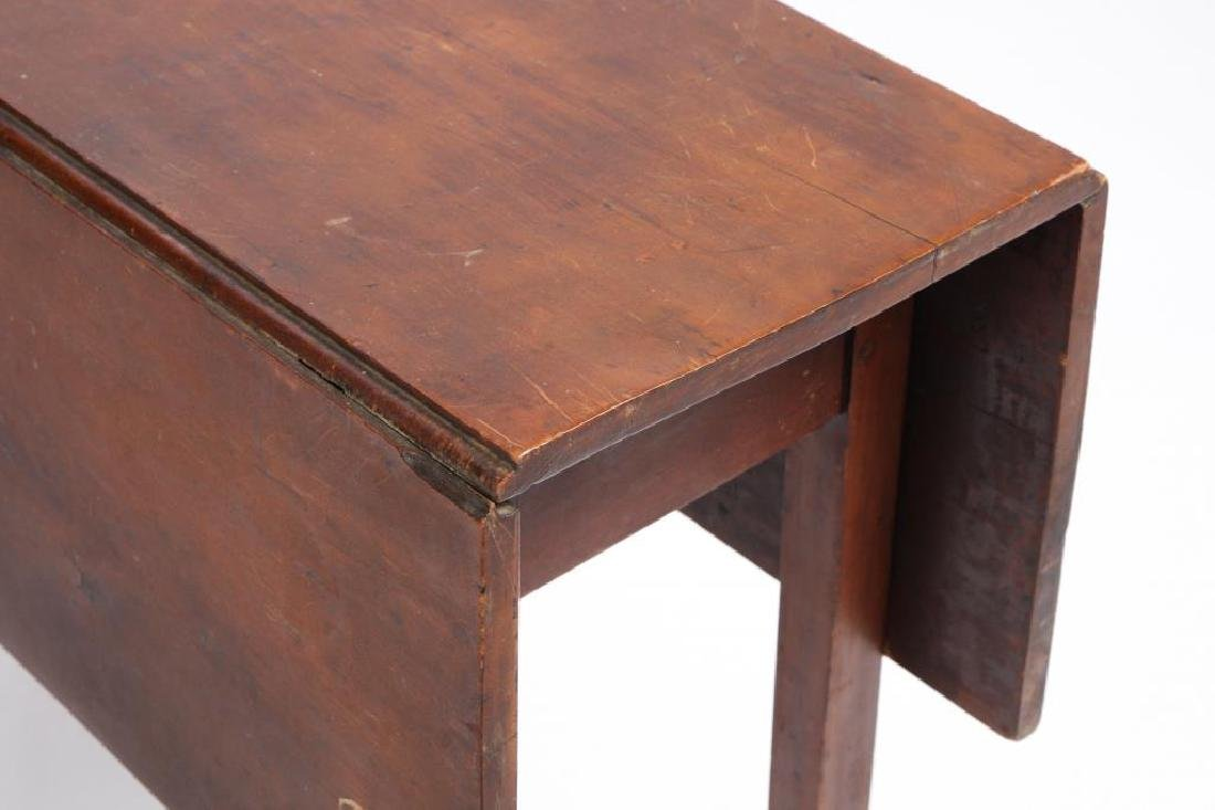 PERIOD CHIPPENDALE COUNTRY DROP LEAF TABLE - 4
