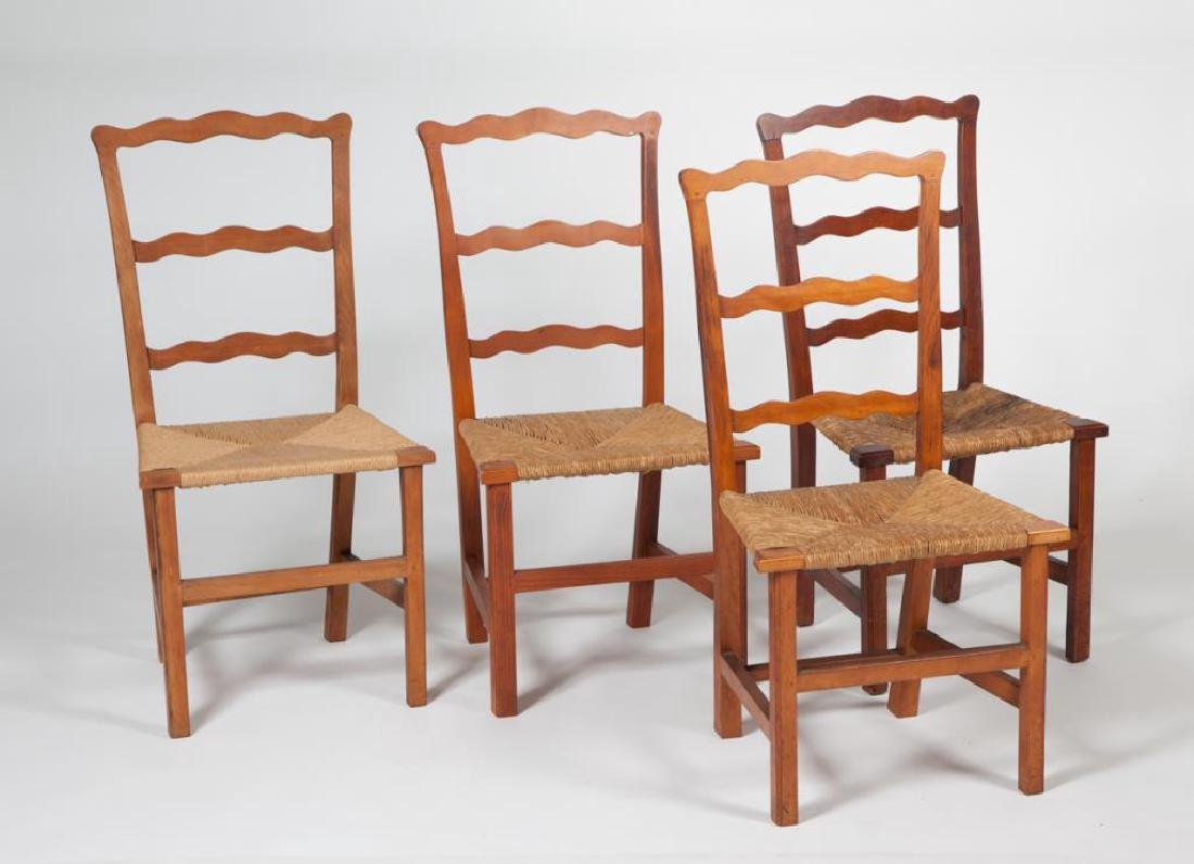 (4) RIBBON BACK SIDECHAIRS TYPICAL OF NEWBURYPORT
