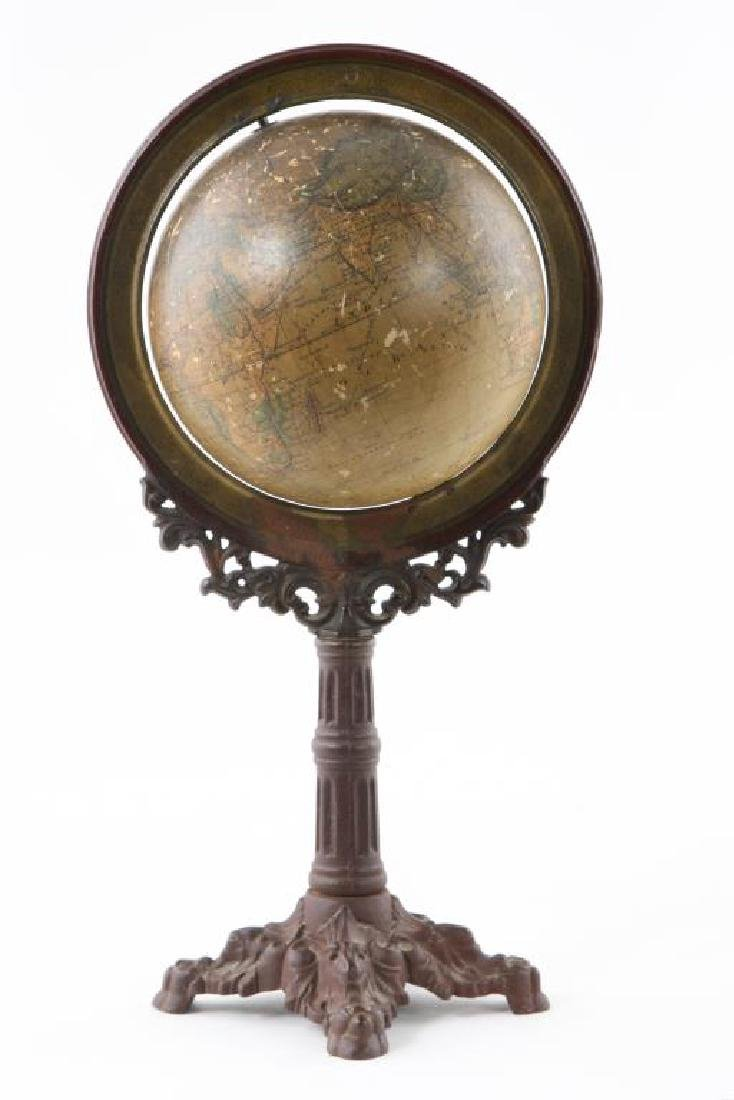J. SHEDLER'S 6 INCH TERRESTRIAL GLOBE on STAND