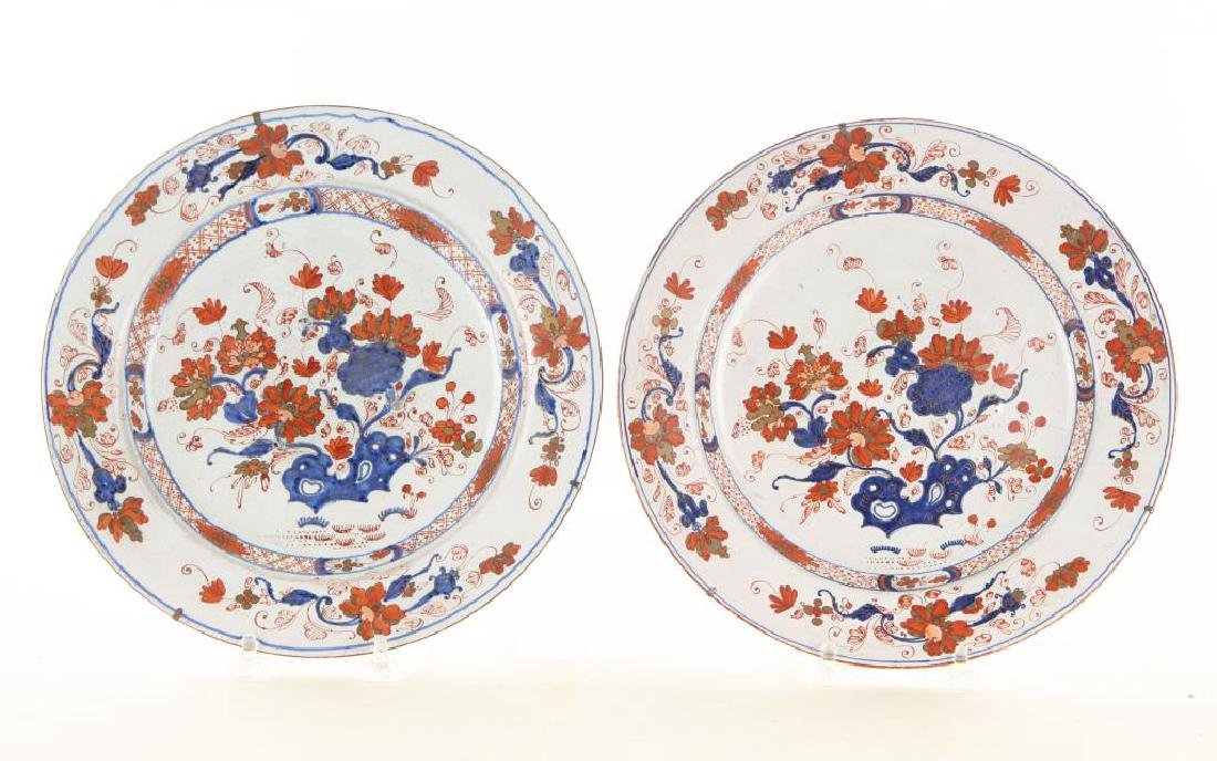 PAIR OF (18th c) DELFT TIN GLAZED PLATES