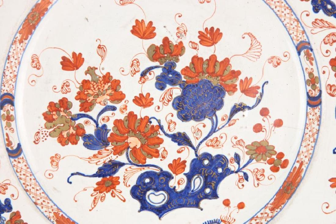 PAIR OF (18th c) DELFT TIN GLAZED PLATES - 4