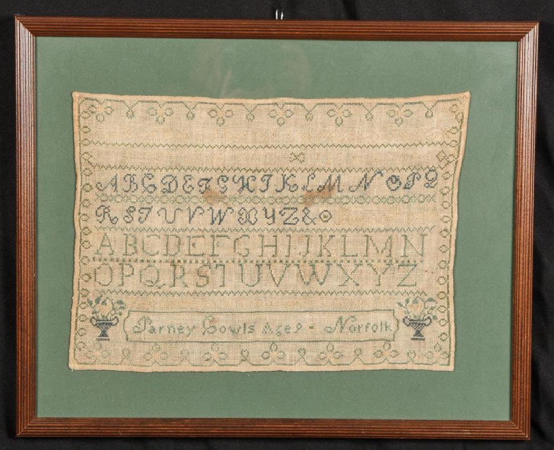 1816 SAMPLER by PARNEY COWLES NORFOLK, CONN.