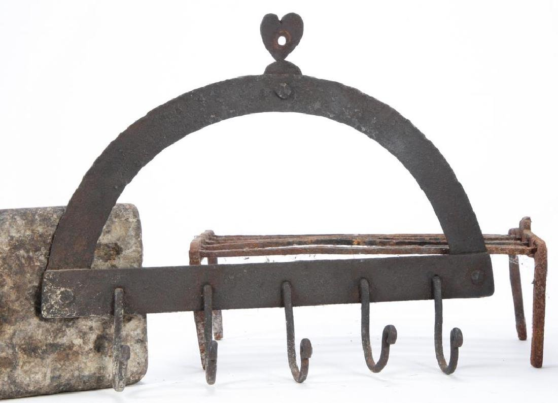 IRON HOOK RACK, SKILLET, GRISSET and SOAPSTONE - 2