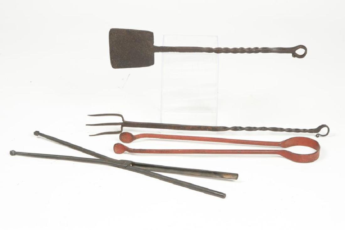 (4) EARLY WROUGHT IRON TOOLS