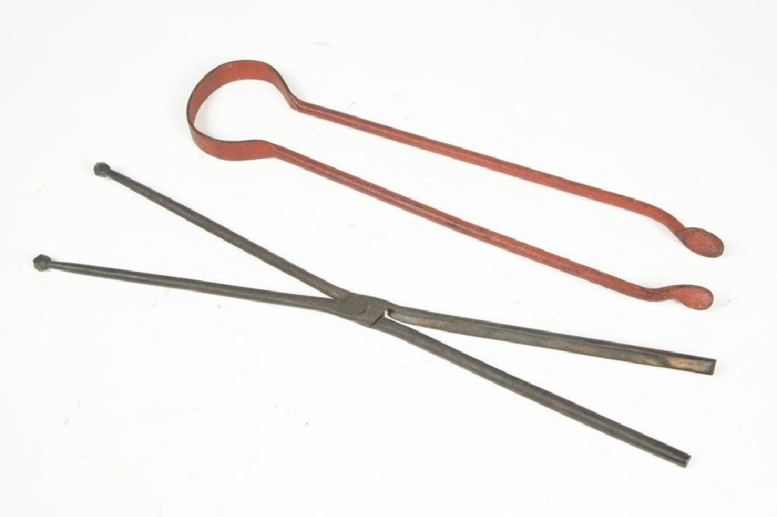 (4) EARLY WROUGHT IRON TOOLS - 6