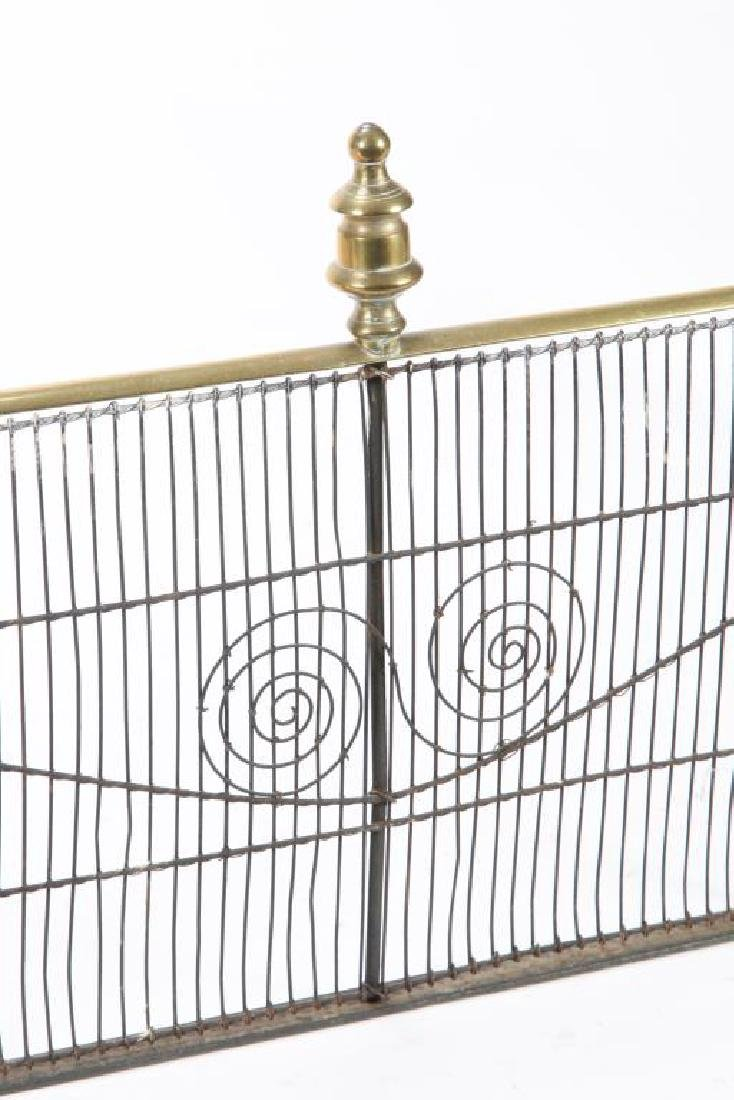 (Early 19th c) FEDERAL BRASS & IRON FIRESCREEN - 5