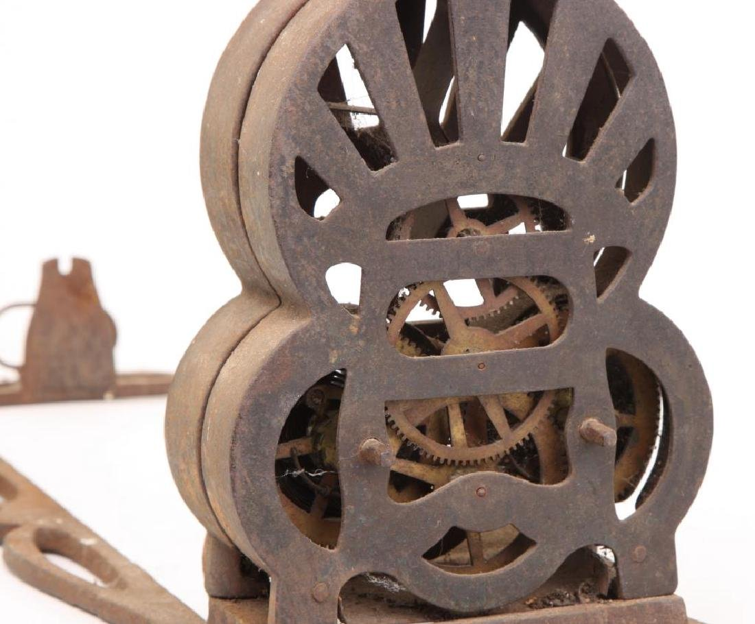 """1863 CAST IRON SPRING WOUND """"AMERICAN ROASTER"""" - 3"""