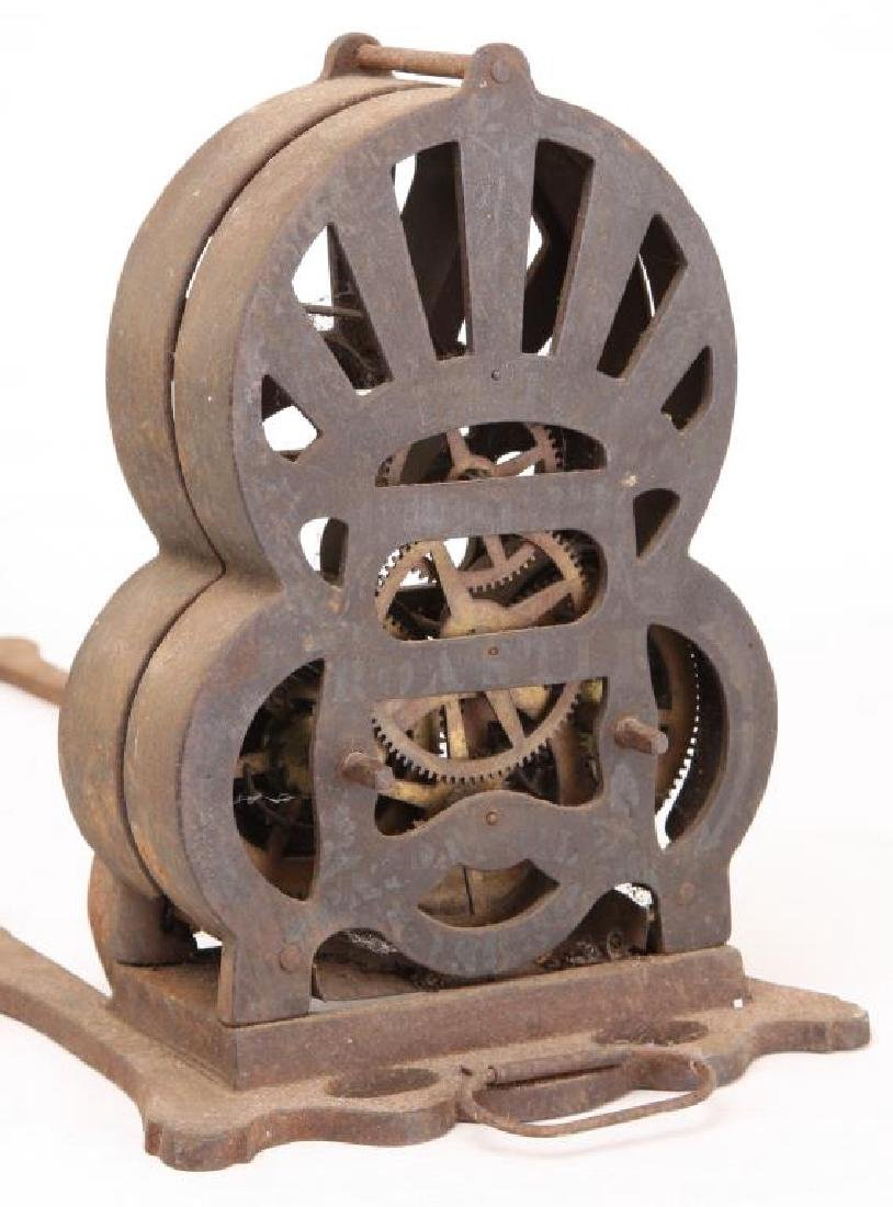 """1863 CAST IRON SPRING WOUND """"AMERICAN ROASTER"""" - 4"""