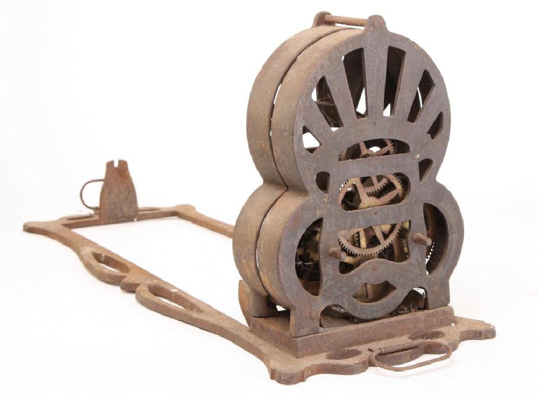 """1863 CAST IRON SPRING WOUND """"AMERICAN ROASTER"""" - 6"""