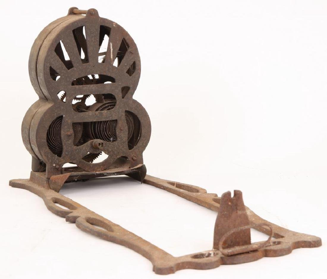 """1863 CAST IRON SPRING WOUND """"AMERICAN ROASTER"""" - 8"""