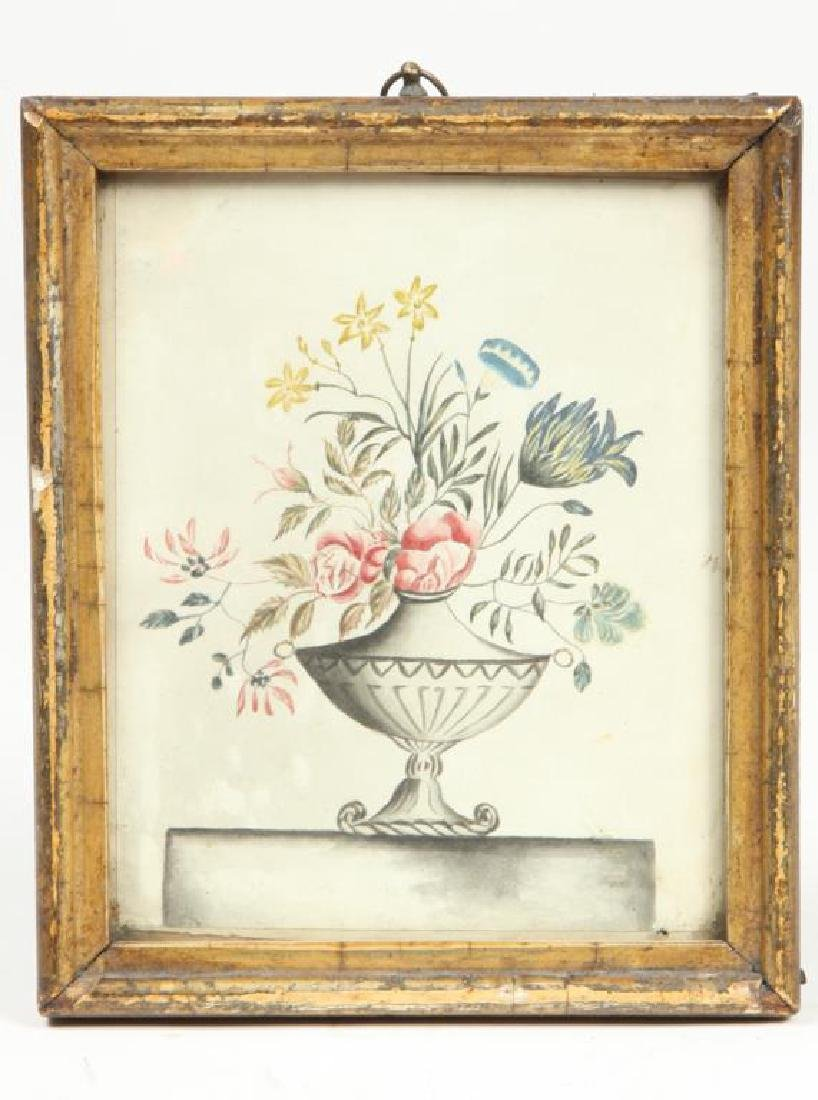 (Early 19th c) STILL LIFE OF FLOWERS in a VASE