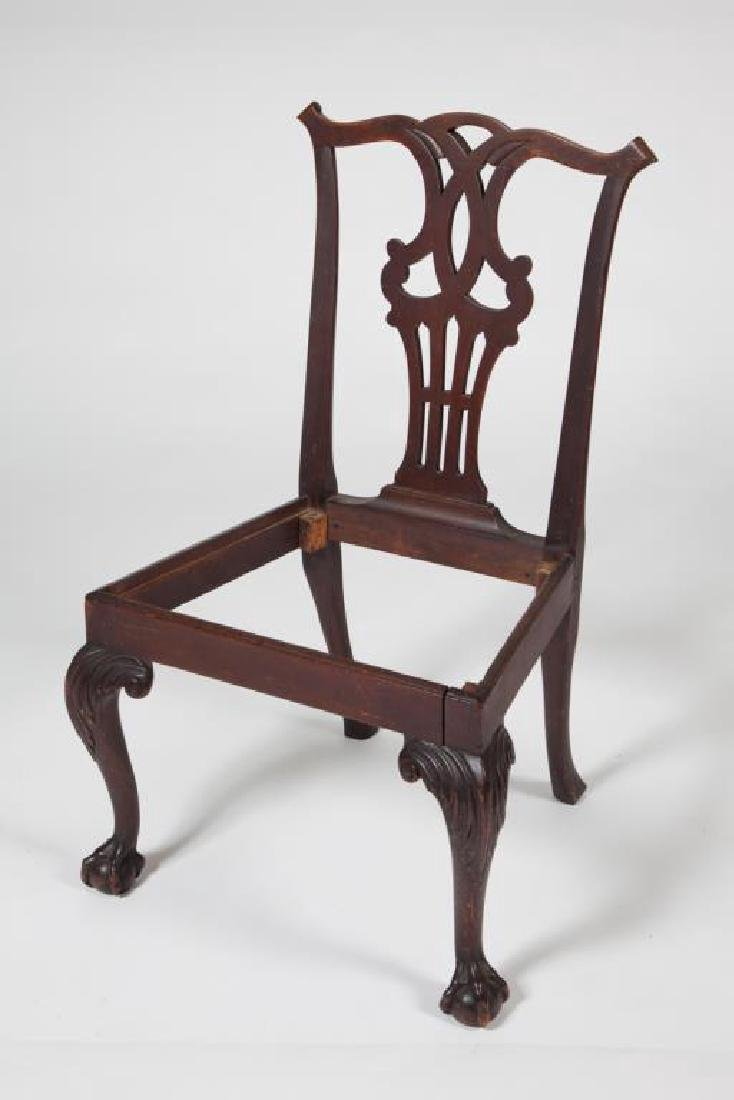 (18th c) CHIPPENDALE MAHOGANY SIDE CHAIR