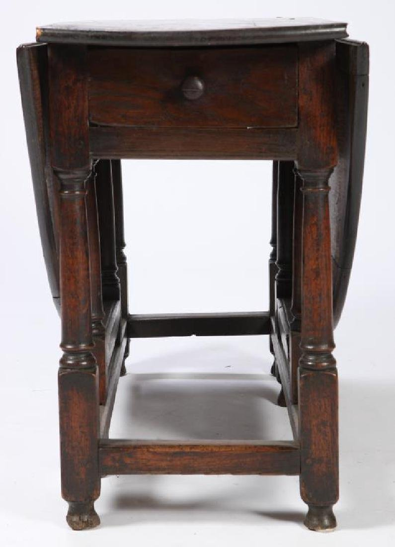 PERIOD OAK GATELEG TABLE with OVAL TOP - 2
