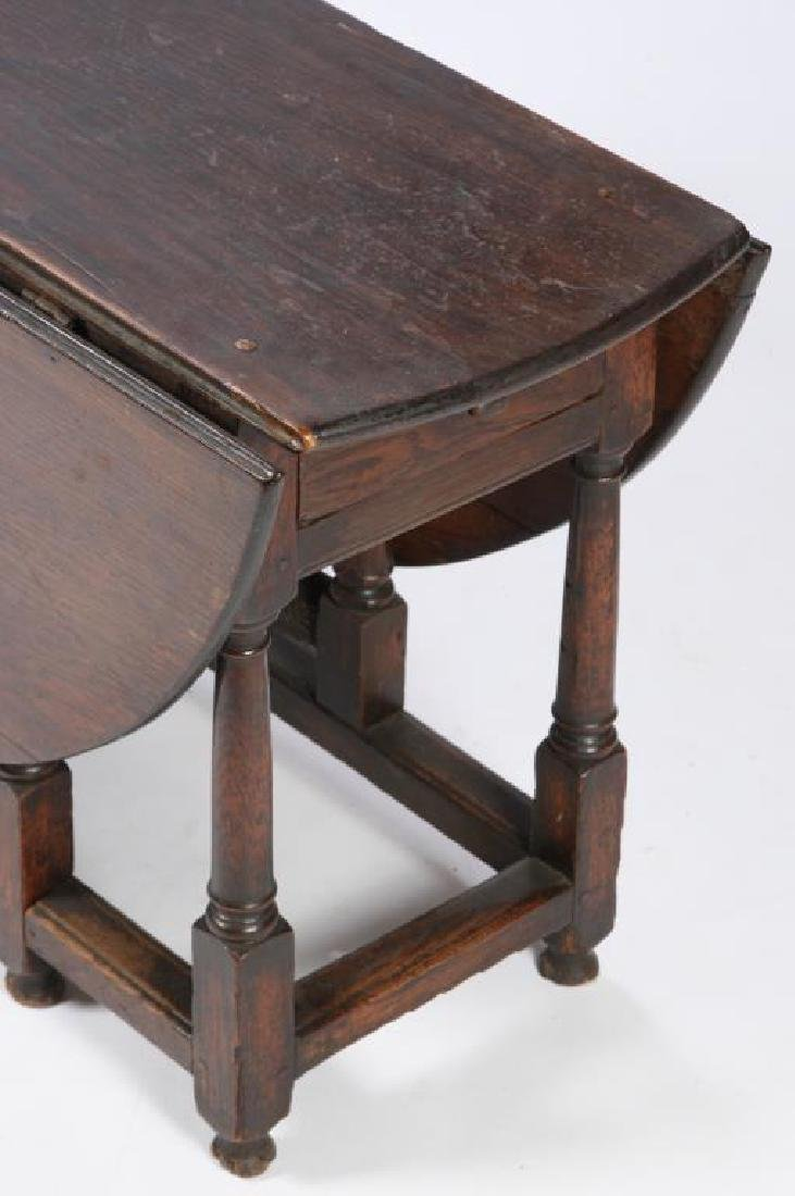 PERIOD OAK GATELEG TABLE with OVAL TOP - 4