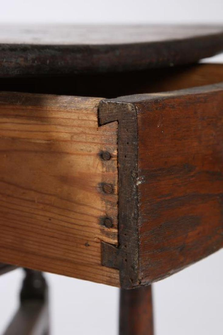 PERIOD OAK GATELEG TABLE with OVAL TOP - 8