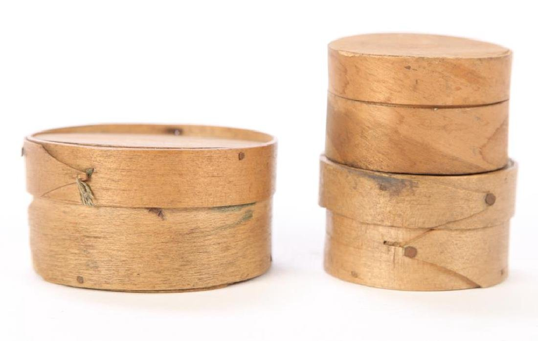 (3) ROUND FINGER JOINTED PANTRY BOXES