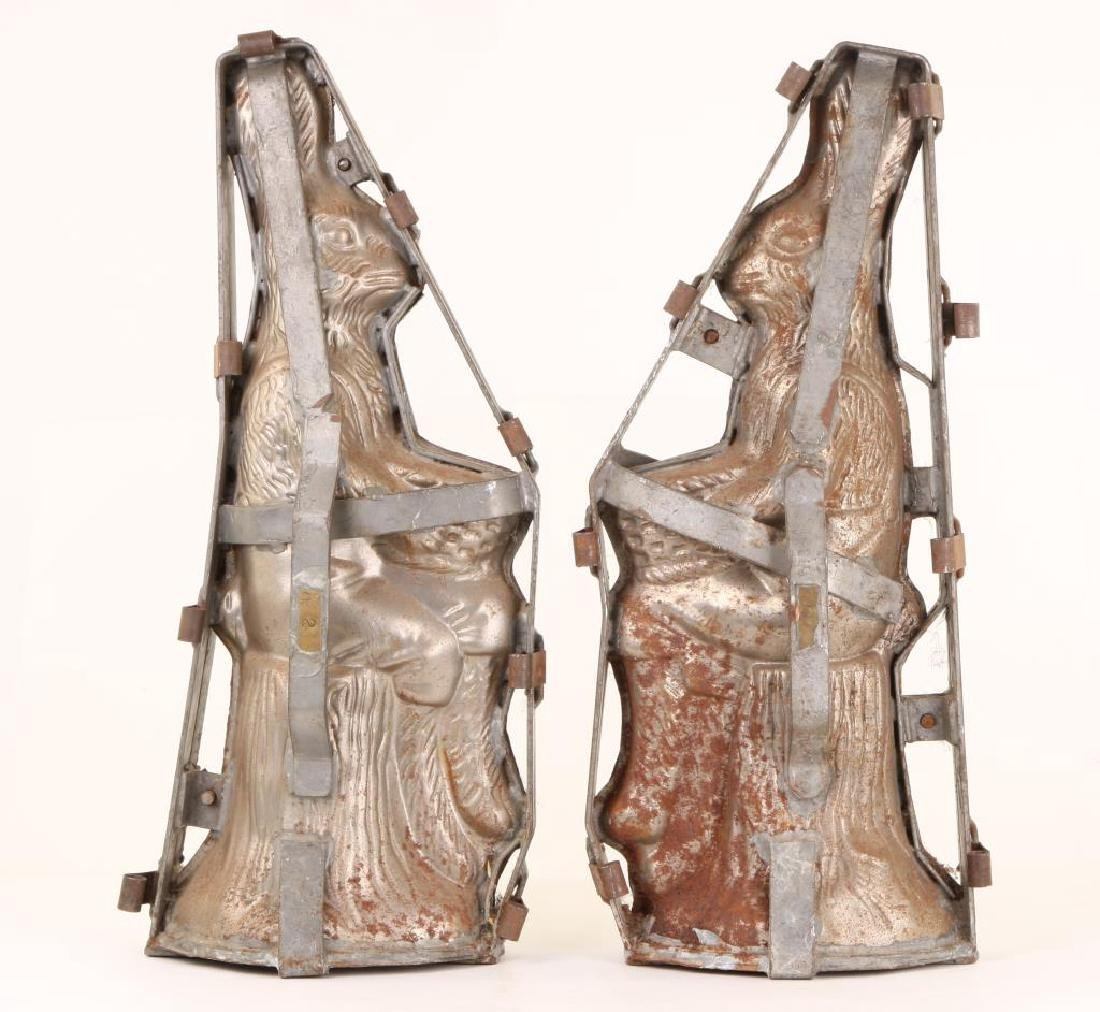 "LARGE PAIR OF ""SEATED RABBIT"" CHOCOLATE MOLDS - 5"