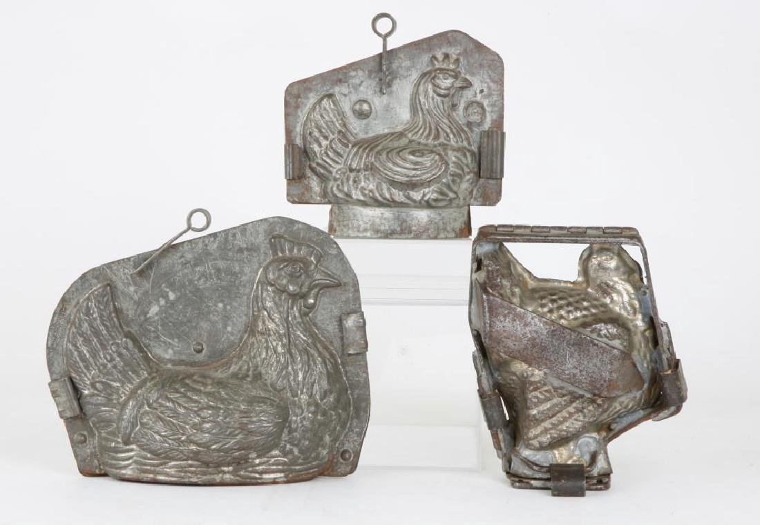 (3) FIGURAL CHOCOLATE MOLDS
