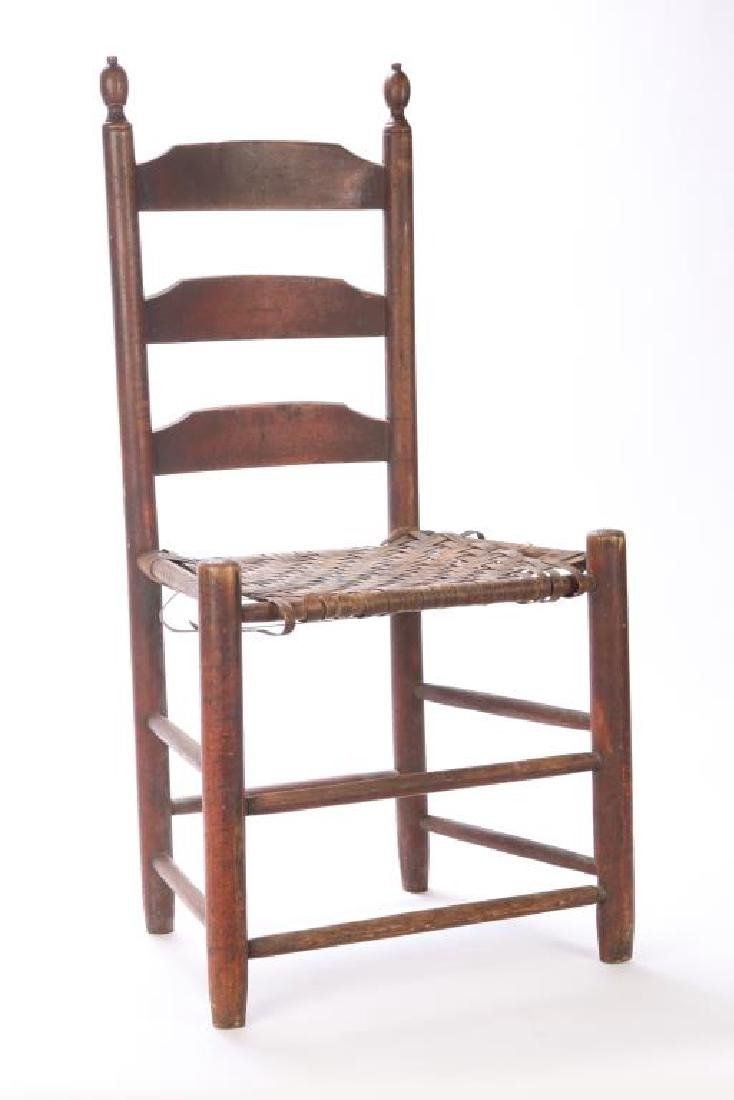 LADDERBACK SIDE CHAIR IN RED WASH