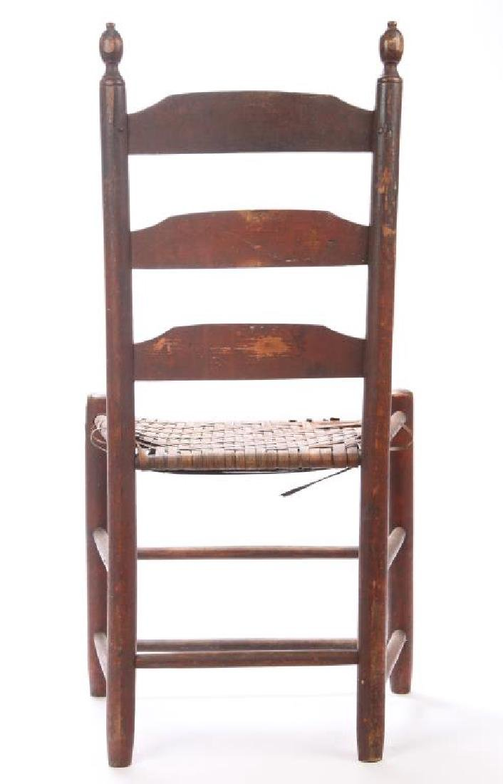 LADDERBACK SIDE CHAIR IN RED WASH - 3
