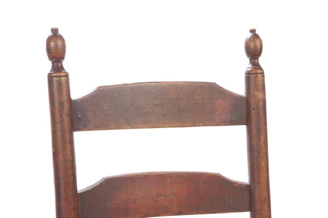 LADDERBACK SIDE CHAIR IN RED WASH - 4