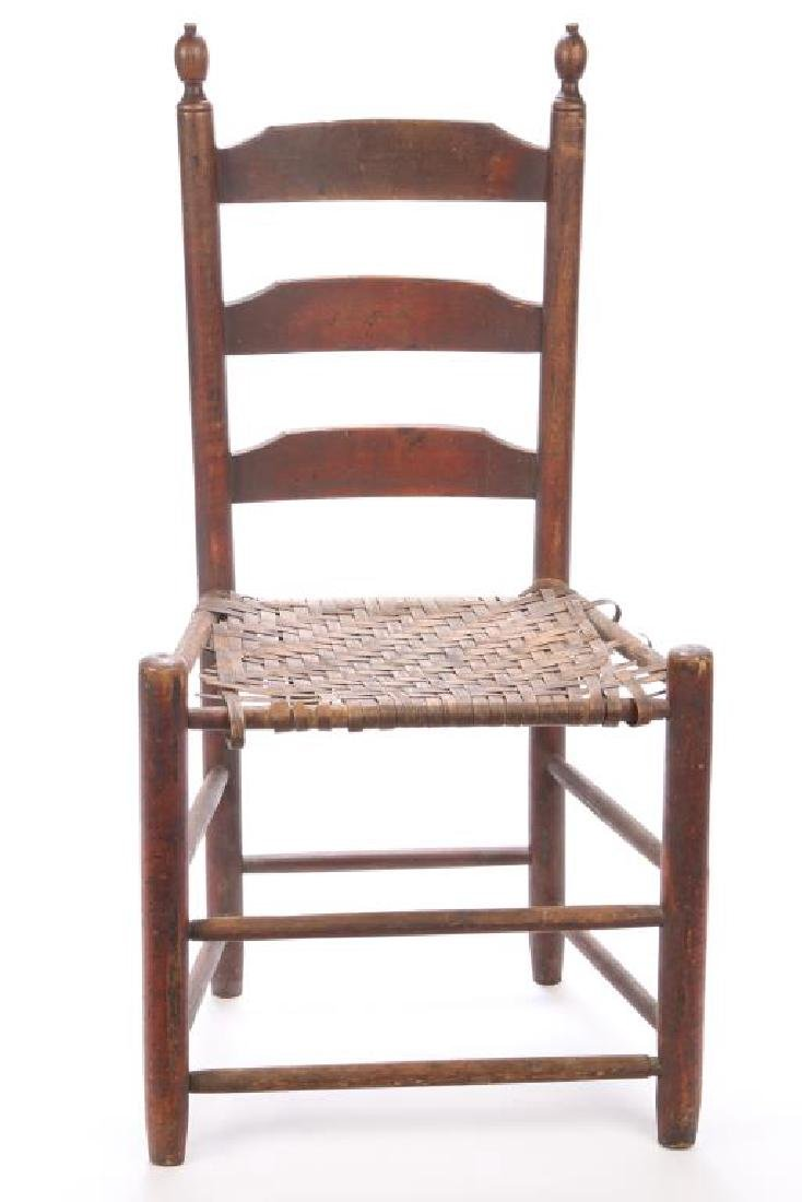 LADDERBACK SIDE CHAIR IN RED WASH - 5