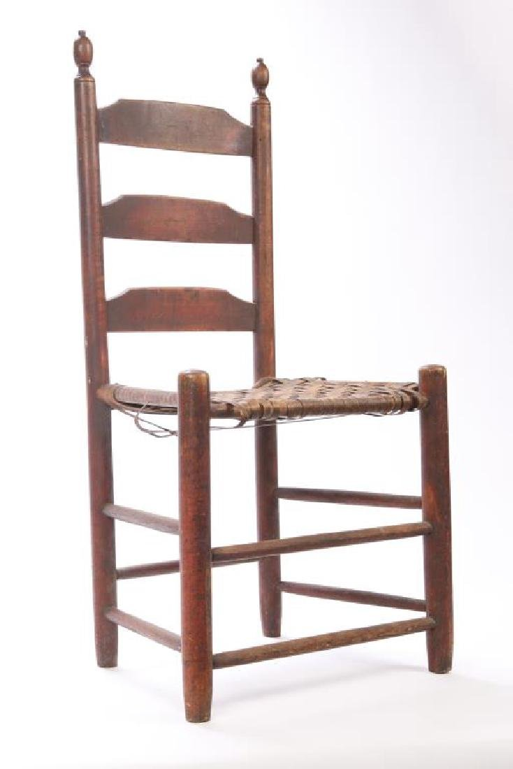 LADDERBACK SIDE CHAIR IN RED WASH - 6